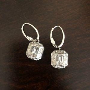 Swavorski earrings - worm once! Sterling silver